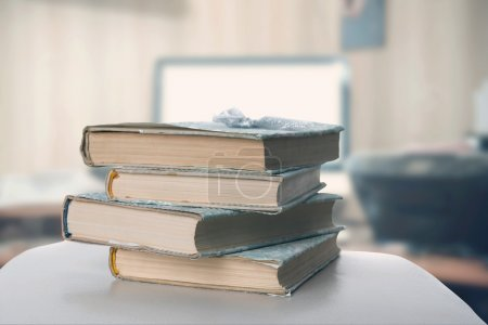 Books on office table