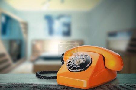 Vintage Orange Phone