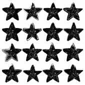 Vector grunge stars collection Design elements Vintage star Retro star