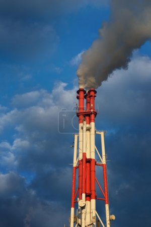 Industrial plant against blue sky