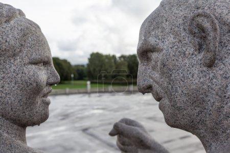 Photo pour Le parc le plus célèbre de Norvège. Créé par le sculpteur Gustav Vigeland dans les années 1907-1942 . - image libre de droit