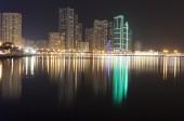 Night city. Khalid Lagoon. Sharjah. UAE.