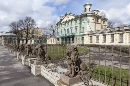 29 lions near the manor Kushelev-Bezborodko. St. Petersburg.