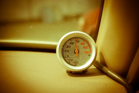 Thermometer in the car