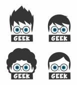 Geek cartoon character theme