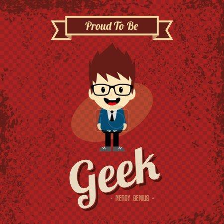 Geek cartoon character