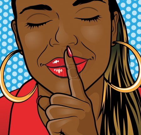Pop Art Styled  African American Girl