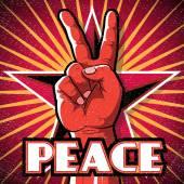 Retro Peace Hand Sign