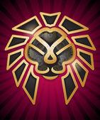 Steampunk Style Lion Head Symbol