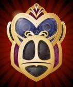 Steampunk Style Gorilla Head Symbol