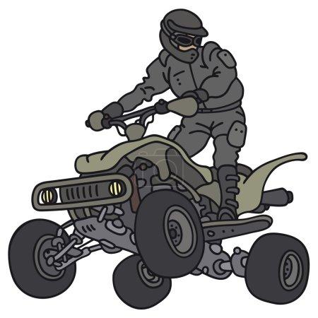 Rider on the all terrain vehicle