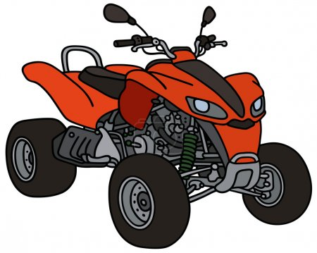 Red all terrain vehicle