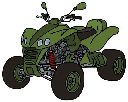 Green all terrain vehicle
