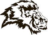 Head of lion in vector format