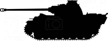 Panther. German silhouette  tank of World War II