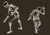 Skull  mans  silhouettes in eps