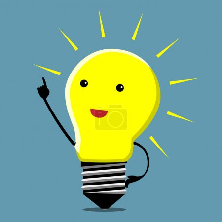 Light bulb character, insight