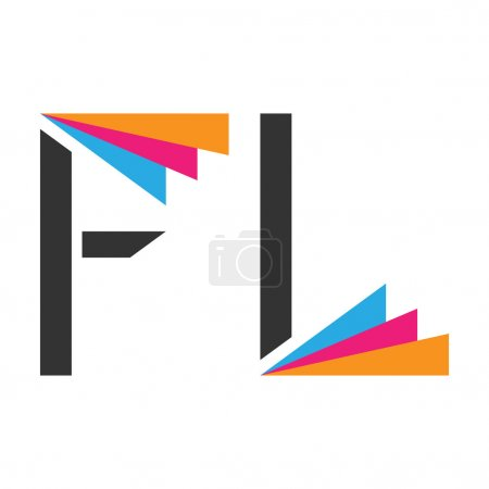 Stylized F and L