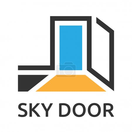 Abstract door to sky