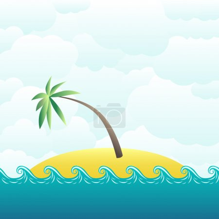 Tropical desert island