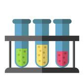 Test tubes rack isolated