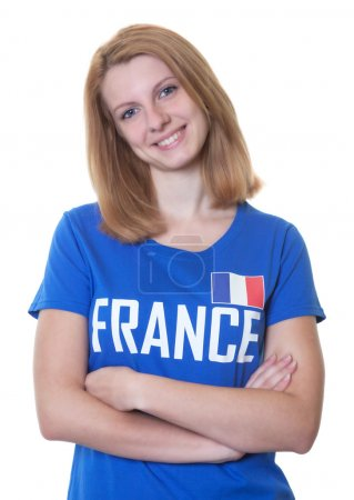 French soccer fan with red hair