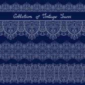 Set of Vintage Template with Ornate Laces