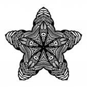 Black Deco Ornament Star
