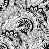 Monochrome Abstract Floral Pattern