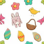 Easter Elements Seamless Texture