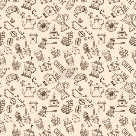 Seamless Coffee Pattern...