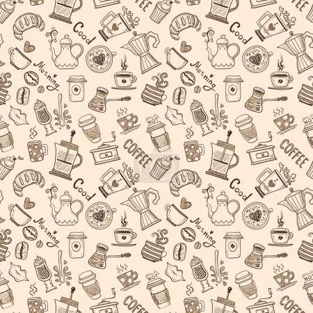 Illustration pour Modèle de café sans couture - image libre de droit