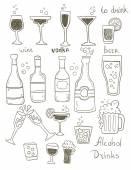 Alcohol Doodles Set