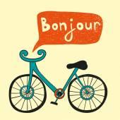 Cartoon bicycle silhouette