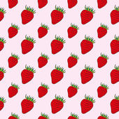 The bright red strawberries on a pink background
