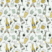 Yellow and green bottles and glasses signs on white background