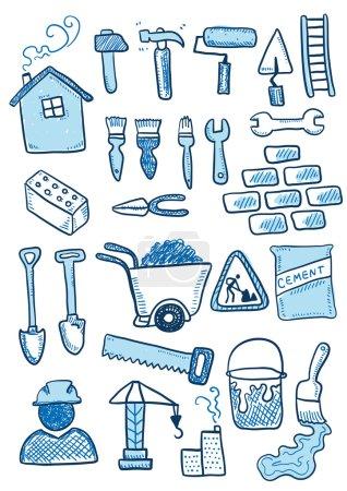 Blue construction set