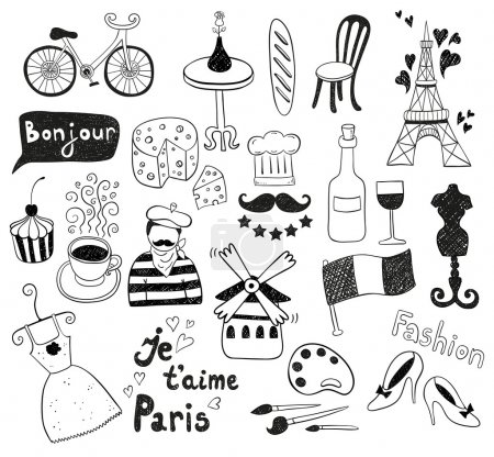 Black Paris doodles