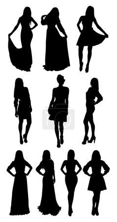 Black women silhouettes