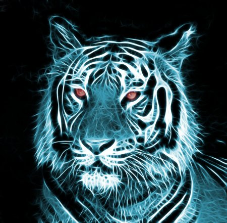 Digital drawing of a tiger