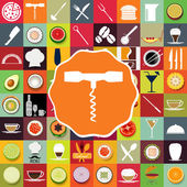 A complete set of food icons restaurant menu