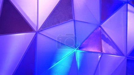 Abstract polygon blue background