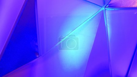 Photo for Abstract polygon structure with blue blue background - Royalty Free Image
