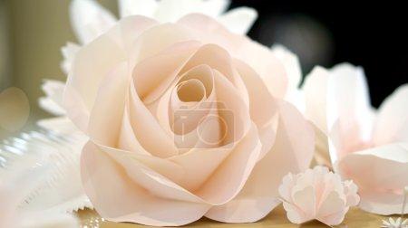 Photo pour Blanc rose fleur mariage fond - image libre de droit