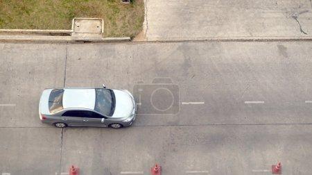 Car on concrete street
