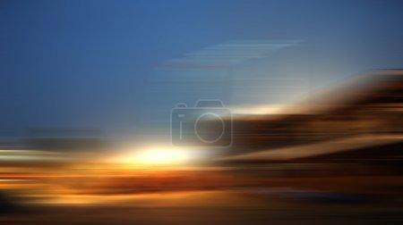 Photo pour Fond de lumière de mouvement avec éclairage coloré - image libre de droit