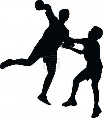Handball player silhouette vector