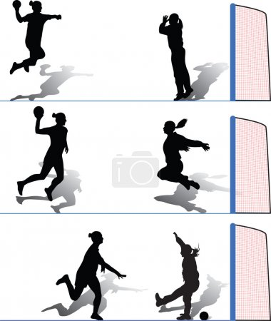 Handball woman silhouette