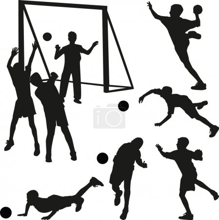 Handball men vector