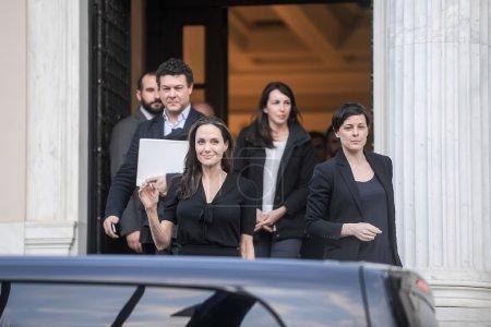 Анджелина Джоли покидает греческий
